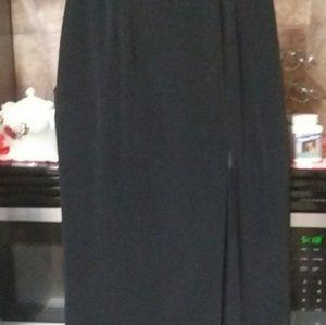 Black Oleg Cassini  Black Tie Ankle length skirt
